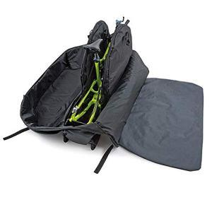 Vélo sac de rangement Sac pliable Sacoche Voyage vélo pliant Vélo de montagne Sac bagages Sac de rangement (Color : Black)