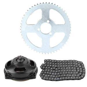 Yctze Kit pignon moto, chaîne d'entraînement système T8F & réducteur 6T & kit pignon arrière pour mini moto 47cc 49cc