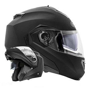 ATO-Helm Montreal Casque visire e double visire; Noir mat Taille S M L XL Conforme agrave; la norme de seacute; curit eacute; la plus reacute;cente ECE 2205