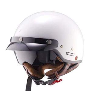 Casque de Moto rétro en Fibre de Carbone pour Homme et Femme