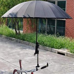 CGMZN Parapluie Moto, Parapluie extérieur réglable connecteur Multi-Angle Rack, utilisé pour Moto vélo électrique Accessoires Support d'équipement de vélo de Montagne