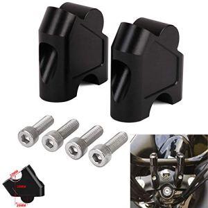 Fast Pro Support d'élévation pour guidon de moto, noir, pour Suzuki GSF 1250S 1250 S SV650 SV1000 SV 650 1000 DL250 DL 250 V-STROM 250 GW 250S GW250 S 250F GW250S
