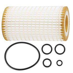 Filtre à huile avec 5 accessoires de rechange pour joints toriques pour C CL CLK CLS E G GL GLK ML R S SL, etc. (Blanc)