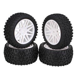 Générique blanc avant arrière buggy jantes caoutchouc pour pneumatiques 66015-66035 rC 01.10 off-road lot de 4
