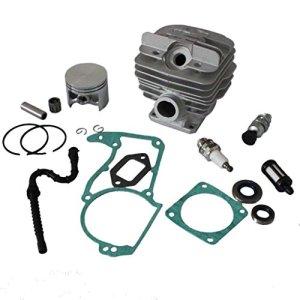 HURI 48mm Cylindre Piston Kit pour Stihl 034 MS340 036 MS360 Tronçonneuses avec Roulements à aiguilles joints d'étanchéité Bougie d'allumage