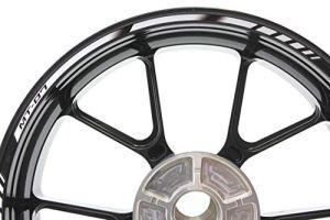 IMPRESSIATA Liserets de Jantes SpecialGP Moto pour Yamaha MT-07 Blanche Autocollants