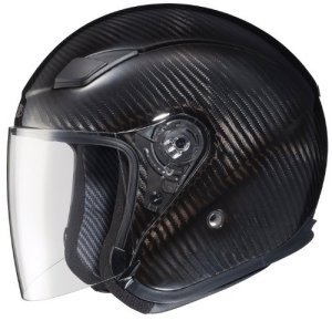 Joe Rocket RKT-Carbon Pro Open Face Carbon Fiber Motorcycle Helmet (Black/Titanium, Medium) by Joe Rocket