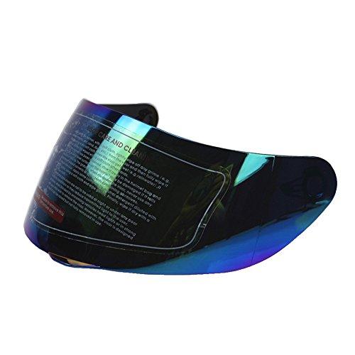 KKmoon Casque Visière de Moto de l'UV de Bouclier Anti-rayures Faciaux