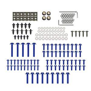 KKmoon Kit de vis de carrosserie pour Moto Vert 194 pièces