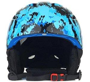 LHRain Double plaque casque de ski équipement de ski unisexe matériel de ski ( couleur : Bleu-L )