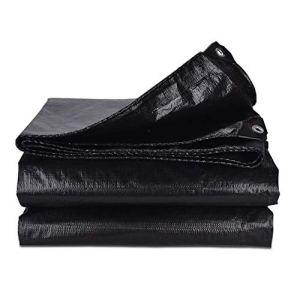 Ljf Tissu antipluie Imperméable Sunscreen Bâche en Plastique Isolation en Tissu Tricycle Parasol Parasol Noir Épaississement (Color : 10X10M)