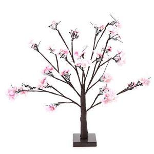Lumière LED, 24pcs LED Lampe de forme de cerisier intérieure Lumière de décoration de fête à la maison