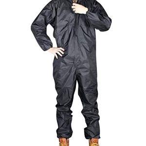Moligh doll ImperméAble de Moto de Mode/ImperméAble/Salopette CombinéE Hommes et Femmes Costume de Pluie Fission Manteau de Pluie Taille XL Noir