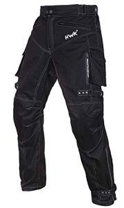 Pantalon de moto renforcéCE en tissu étanche pour homme Noir