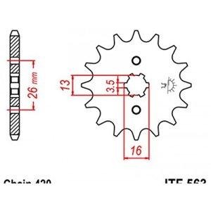 Pignon acier 11 dents jt chaîne 420 suzuki lt a-50 – Jt sprockets 46056311