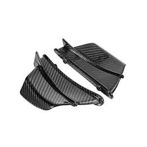 YUQINN Moto Pièces Nouvelle fibre de carbone moto Aérodynamique aile Kit fixe Winglet Wing Carénage Gloss for Ducati Weave Twill Panigale V4 (Color : Gloss)