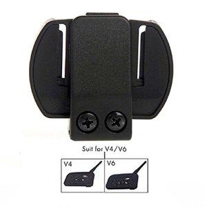 Accessoire de casque de moto, micro casque avec câble rigide et clip pour casque de moto à interphone V6/V4