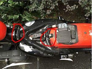 Alician Support de selle à ressort pour moto Sportster XL883