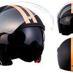 ARMOR Helmets AV-63 Casque Moto Jet, Fun Matt Noir, L (59-60cm)