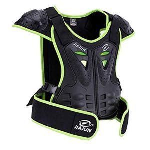 Armor Qtrees Gilet de protection enfant pour moto/dirtbike/motocross/ski/snowboard, Vert, s