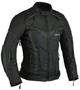 BorneAir Veste de Protection Moto étanche avec des évents, M,Noir