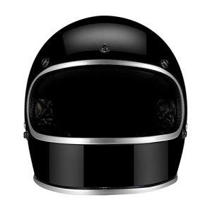 Casque De Moto, Casques De Moto À Réaction Harley Casque De Scooter De Personnalité pour Le Coureur De Café De Moto,B,XL
