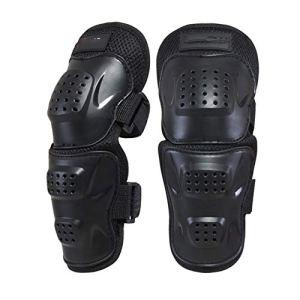 CXD Protection des Genoux Moto coude, Genou Course Motocross Protection de protège-Tibia pour Les Adultes de Haute qualité et Confortable à Porter,Noir