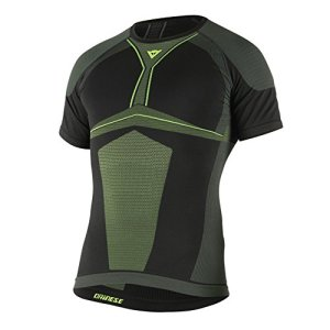 Dainese-D-CORE DRY TEE SS, Noir/Fluo-Jaune, Taille M
