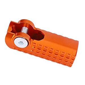 Embout de levier de vitesse de moto, embout de levier de changement de vitesse en alliage d'aluminium pour moto adapté pour le tout-terrain(Orange)