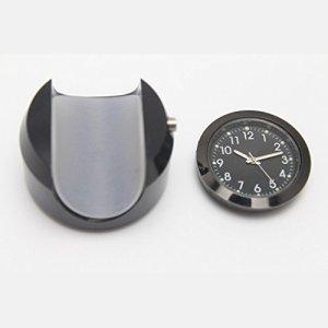 Gazechimp 7/8″ 1″ Waterproof Mount Temps Cadran Horloge Moto Guidon Regarder Noir