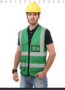 Gilet réflecteur multifonctions Gilet de sécurité réfléchissants Vêtements de sécurité réfléchissants Workwear réfléchissant T-shirt Police de la route du travail Gilet réfléchissant Zipper Top Design