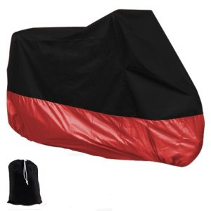 HOUSSE BACHE MOTO Couvre-Moto velo VTT scooter Taille XL 245cm rouge noir protection