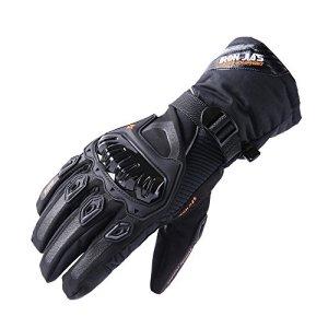 Moto Gants hiver chaud gants de protection imperméable Imperméable Coupe-Vent GUANTES luvas (Fonctionnement de l'écran tactile)