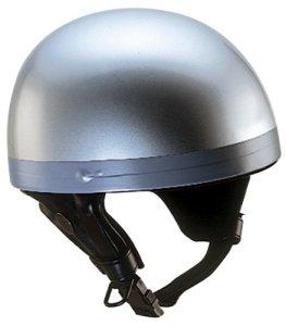 Nikko Casque Bol de Moto, Argenté, S
