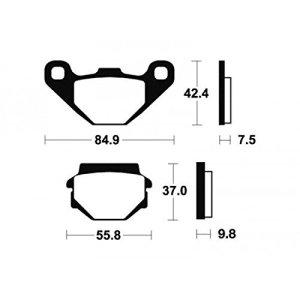 Plaquettes de frein bendix mo46 métal fritté – Bendix 380464