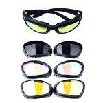 Polarisé Conduite Équitation Lentille Lunettes Des lunettes de soleil avec 4 lentilles pour moto vélo activités de plein air chasse sportive militaire
