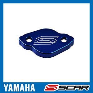 SCAR Couvercle maitre cylindre frein arrière compatible avec YAMAHA YZ YZF WR WRF XT TRICKER 125 250 450 – Bleu