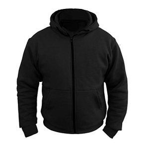 Sweat-Shirt à Capuche de Moto – Kevlar Dupont™ – Fibres d'aramide/Renforts CE – Femme – Noir – EU 50