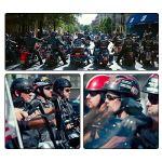 TKUI Demi Casque de Moto, Casques Harley Vintage à Face Ouverte avec dégagement Rapide de Lunettes pour Cruiser,XL(61~62cm)