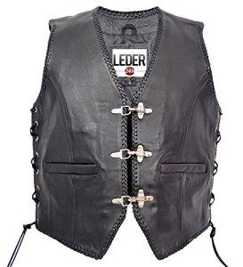 VESTE en cuir homme GILET Chopper Biker Club de Rocker 1050-SP (L)