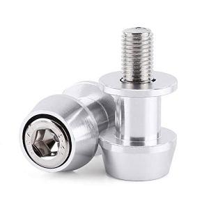 Vis de support de bras oscillant, 8/10mm Moto CNC en alliage d'aluminium Bras oscillant Bobine Curseurs Protecteur Stand Support Bobines de bras oscillant(8MM-argent)