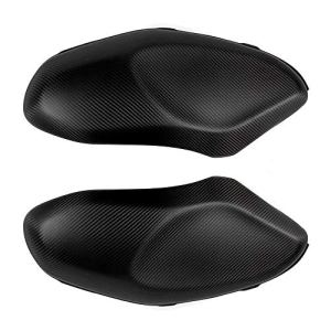 YUQINN Moto Pièces New Carbon Side Couvre réservoir protecteur de moto réservoir Couvertures Sliders Protections 100% en fibre de carbone 3K for YAMAHA 900 XSR900 XSR (Color : Matt Black)