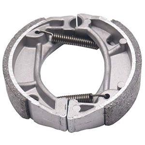 Accessoires moto/for Honda DIO ZX AF52 AF54 AF55 AF56 AF57 AF58 / Fit for AF61 AF62 AF63 tambour plaquettes de frein de mâchoires de frein Bloc frein (Color : Metallic)