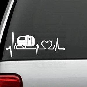 Bluegrass Decals F1026Camper de voyage Remorque Heartbeat Lifeline Autocollant
