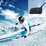 FreedConn Casque de Moto Helmet Oreillette, Moto Intercom Oreillette Bluetooth Plug Casque de Moto Interphone, V6/V4 (Microphone)
