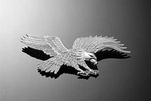 Highway Hawk Aigle avec butée à ailettes Chromé Taille L