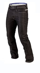 Juicy Trendz Hommes Motorcycle Moto Pantalon Motards Jeans Renforcée Aramide Protection, Noir, 34W / 34L (étiquette 36)