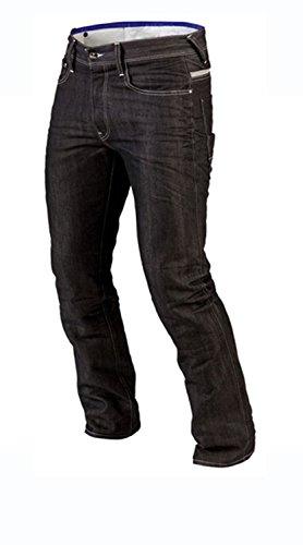 Juicy Trendz Hommes Motorcycle Moto Pantalon Motards Jeans Renforcée Aramide Protection, Noir, 34W / 34L (étiquette 36)