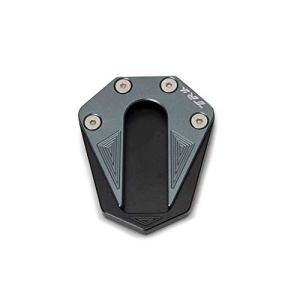 KKmoon CNC Aluminium Kickstand Plaquette Moto Accessoires Pied Côté Stand Agrandisseur Extension Pour Benelli TRK 502 2017-2018