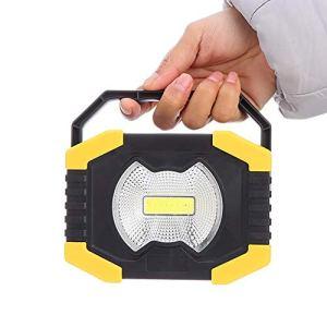 lennonsi Lampe De Travail Solaire Portable Rechargeable USB Lumière Lumière D'inondation pour Le Travail Camping Pêche De Nuit